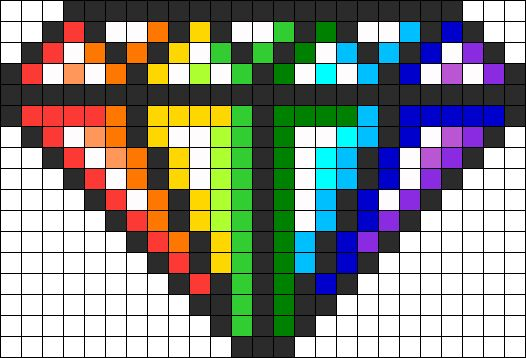 Rainbow Diamond Perler Bead Pattern / Bead Sprite