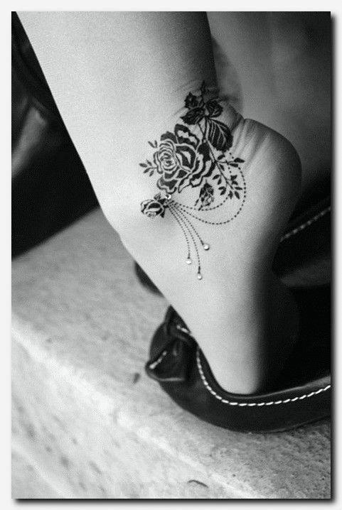 #rosetattoo #tattoo small ladies tattoos designs, wolf tattoo shoulder, foot tat…