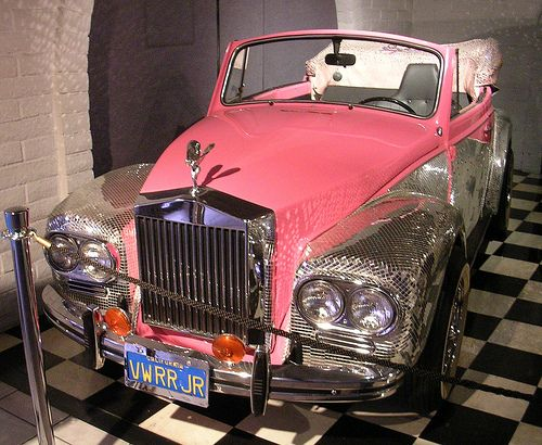 Liberace`s customized pink and silver VW pimped to look like Rolls