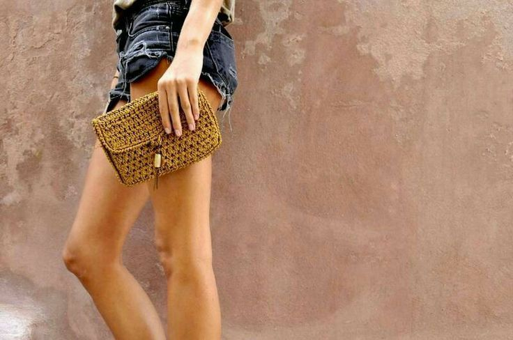 gold...sand handmade clutch
