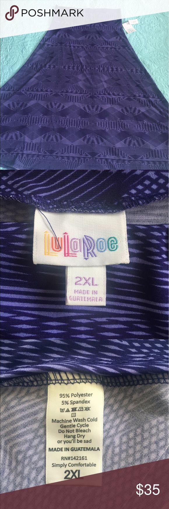 BNWT 2X LuLaRoe Maxi Skirt *$28 is the final price for this item* BNWT 2X purple LLR maxi skirt. LuLaRoe Skirts Maxi