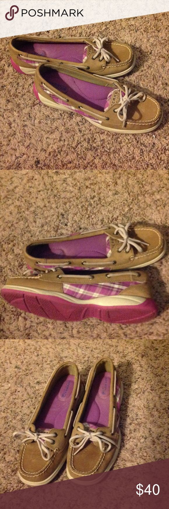 Women Sperry Angelfish shoes Good contain, leather is stainless with multicolored pattern. Sperry Shoes Flats & Loafers