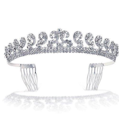 Bling Jewelry Kate Middleton Inspired Royal Wedding Rhinestone Bridal Halo Tiara