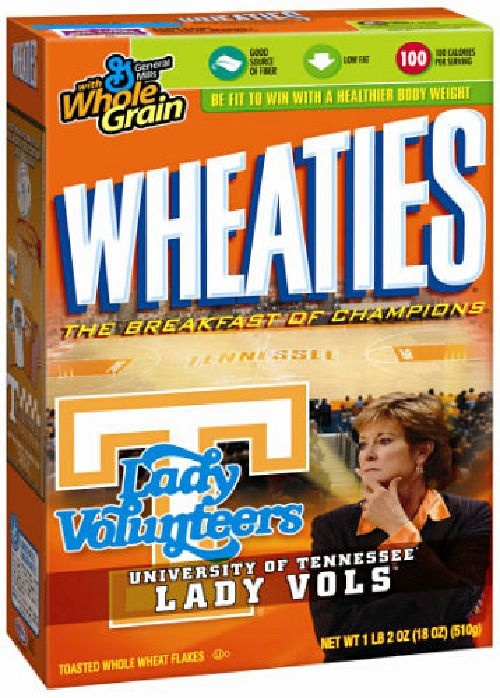 Image detail for -Pat Summitt/Lady Vols News: Summitt to appear on box of Wheaties