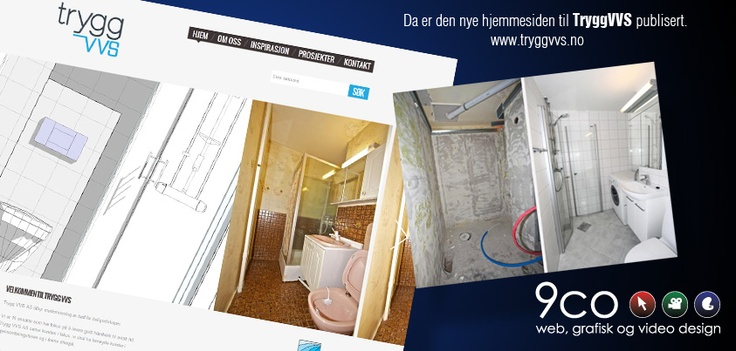 Take a look at the newly developed homepage for a plumber company called Trygg VVS (translate: Safe WWS (Water Warm Sanitary)