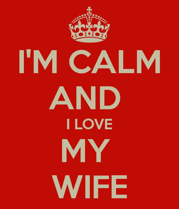 I'm not really calm but I do love her -ray