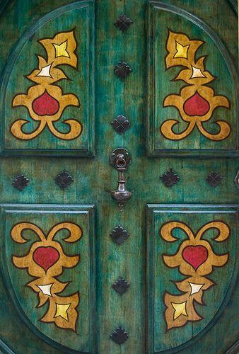Painted Door In France