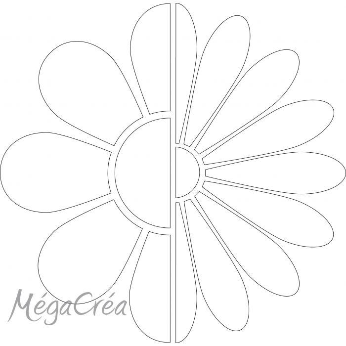 Grille de repères pour traçage - Fleur - Gabarit traçage et boite