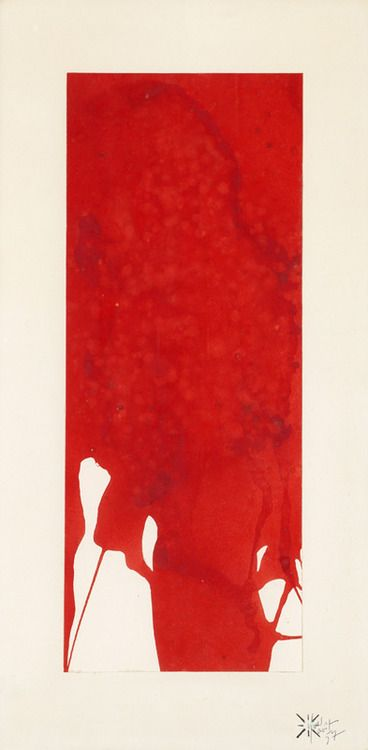 Untitled / Monochrome Red - 1957 - Yves Klein - http://www.yveskleinarchives.org/ - - http://gacougnol.tumblr.com/post/28006632421/yves-klein-monochrome-red-untitled-1957