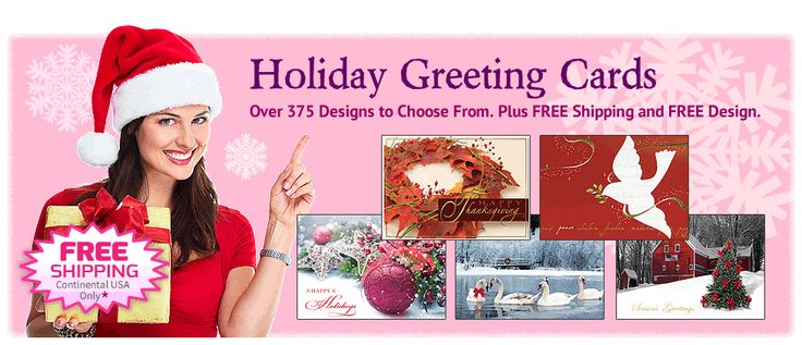 Holiday Greeting Cards! Over 375 designs to choose from. Plus FREE Shipping and FREE Design!  #greetingcards