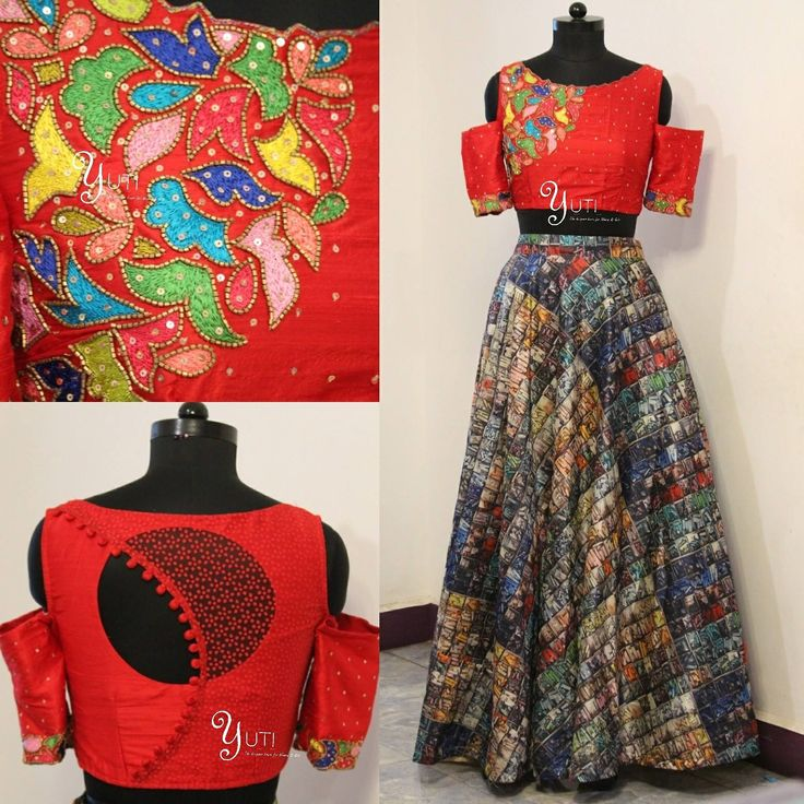 Nothing is random in this world Everything has a beautiful pattern in it so is our bright red embroidered blouse!<br> For Orders and Queries reach us at 044-42179088 / whatsapp: 7010905260Address: 21 Valmiki street Thiruvanmyur . 03 June 2017