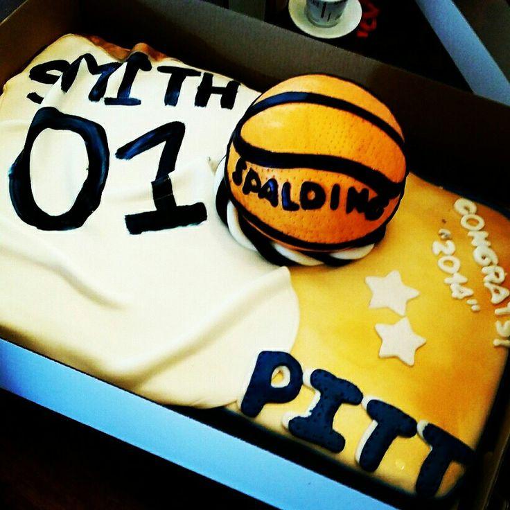 #Pitt #basketball #jersey #Graduation #cake #beessweetspgh