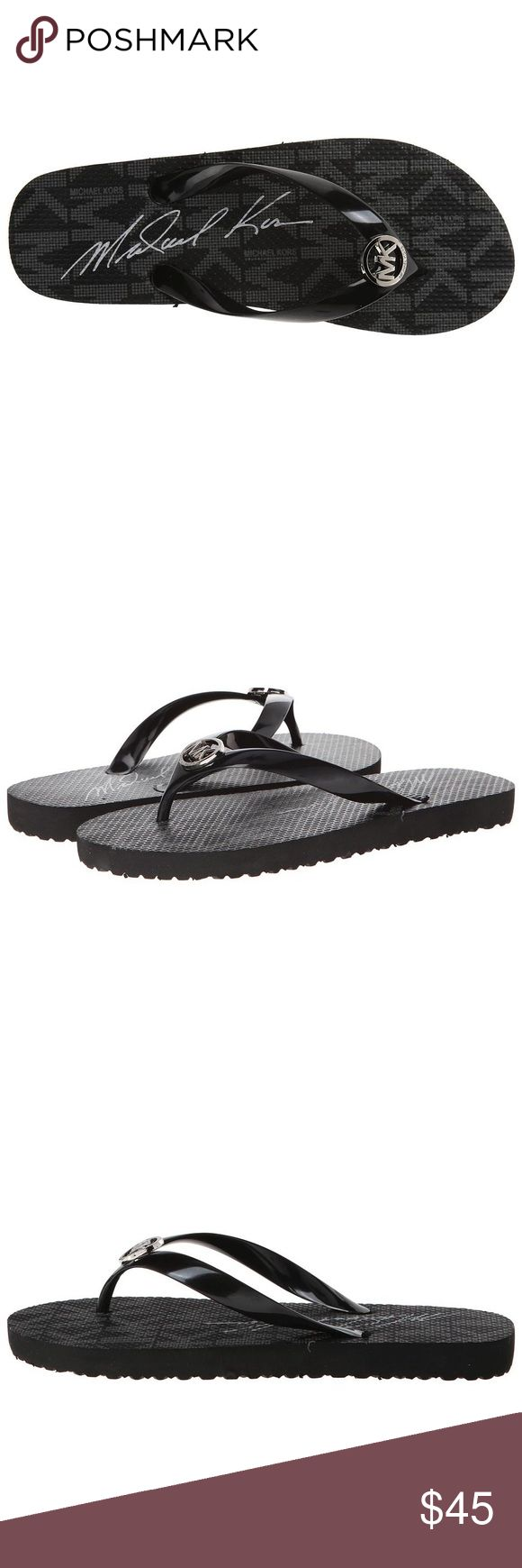 MK Michael Kors blk logo rubber flip flops Sandals 100% authentic! New in box, made in China. Size: 8, color: black, material: rubber MICHAEL Michael Kors Shoes Sandals