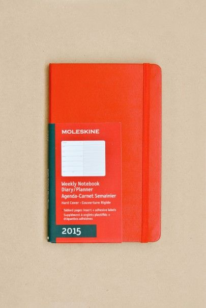 Moleskine 2015 Notebook Diary - Weekly - Large (13x21cm) - Hard Cover - Red - Cover - $37.95