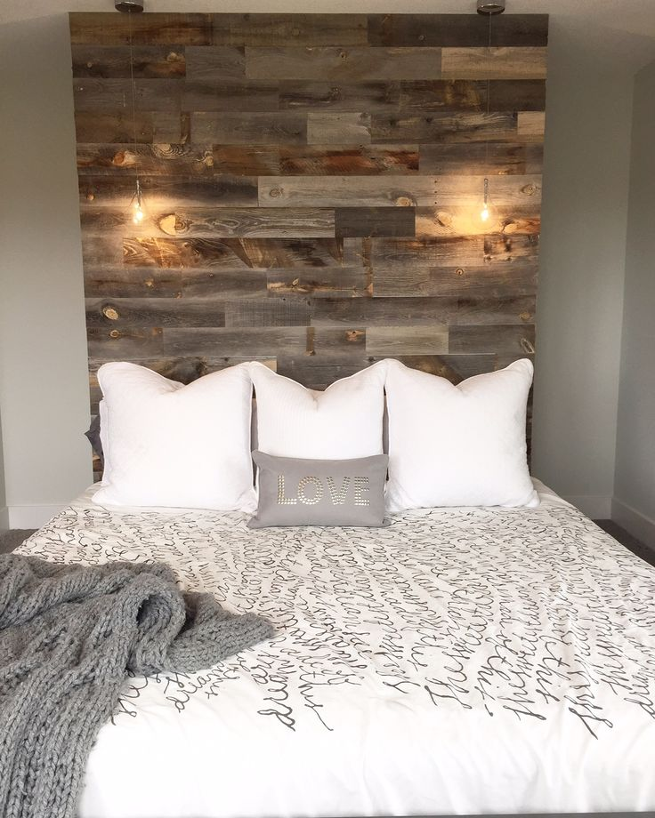Wall Headboard Ideas best 25+ reclaimed wood headboard ideas on pinterest | wood