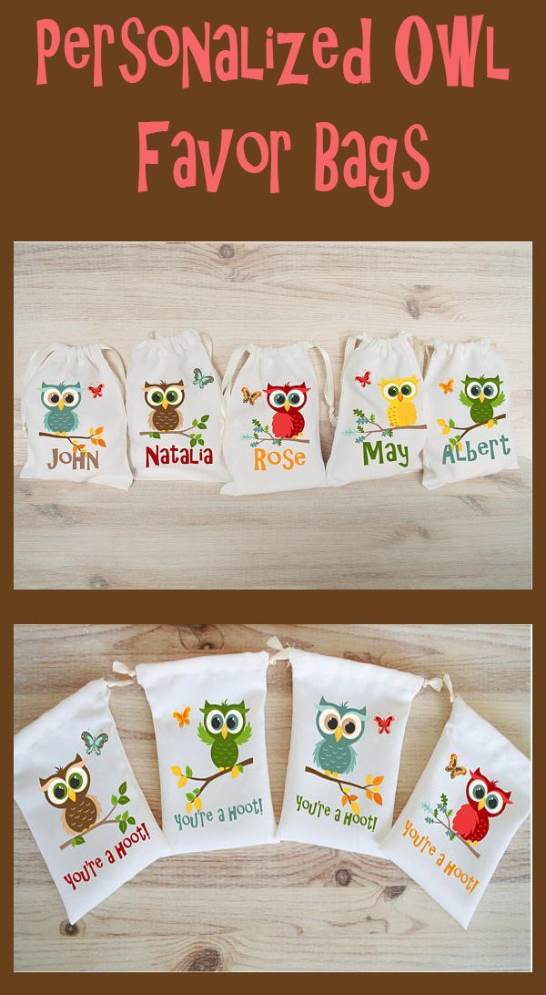 how to make owl goodie bags