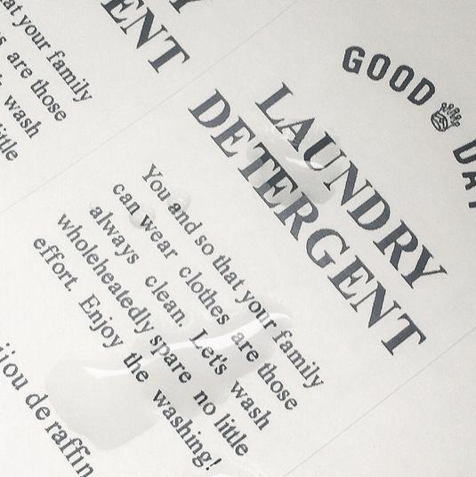 再販◎シンプル、お掃除 洗濯ラベル 撥水耐水シール
