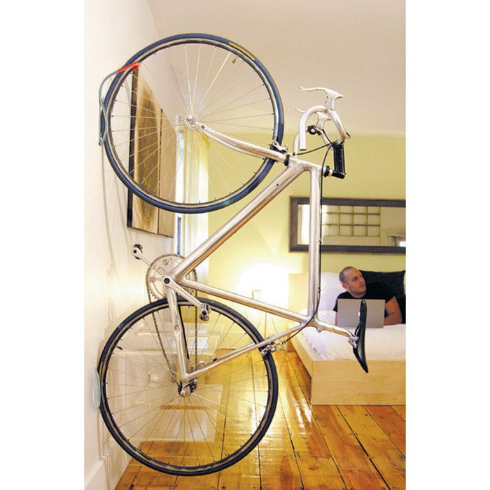 spaces i mounted hanging hooks garage info diy pin tension rack but mike idea great sapak bike