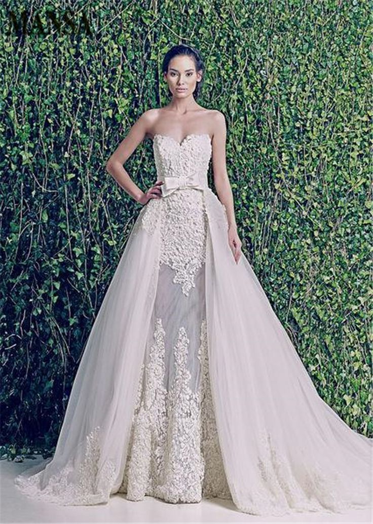 Cheap Wedding Dresses, Buy Directly from China Suppliers:		MANSA  2014 New Zuhair Murad Wedding Dresses Sweetheart See Through Detachable Skirt Wedding Dress Bridal Go