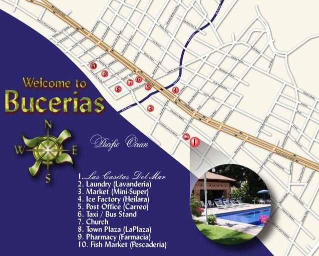 Map of Bucerias Mexico