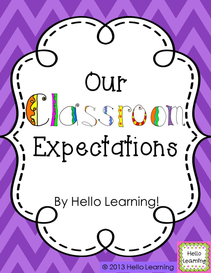 Our Classroom Expectations- set up classroom expectations with colorful posters, and student involvement- a great first week activity! by Hello Learning $