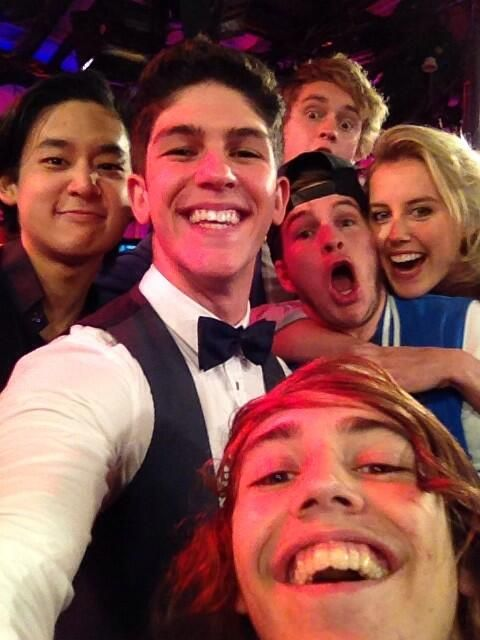 The wonderful cast of nowhere boys and the abc3, studio3 hosts