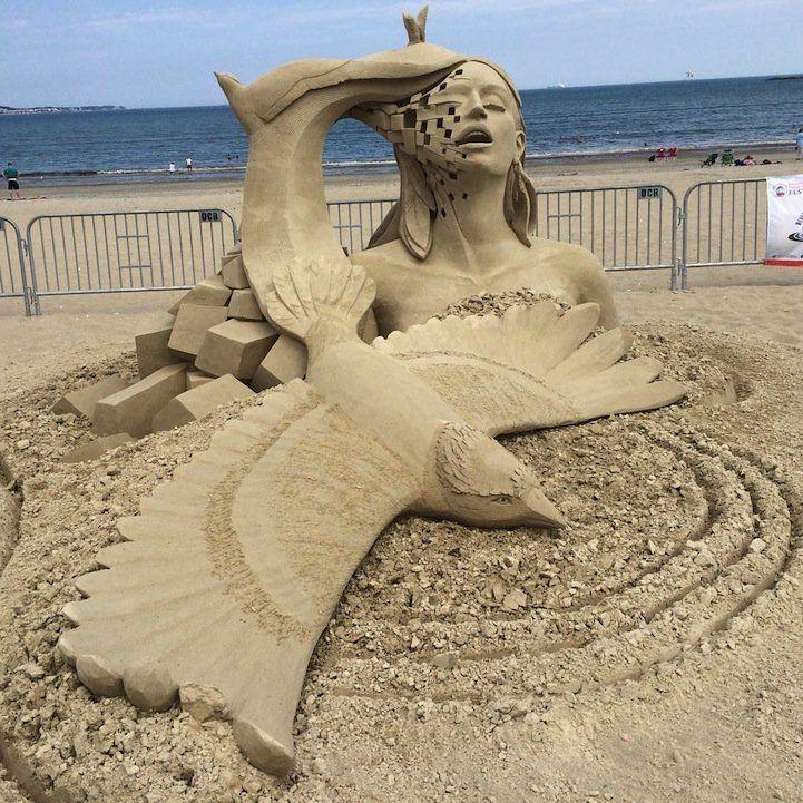 As incríveis esculturas de areia do Revere Beach International Festival