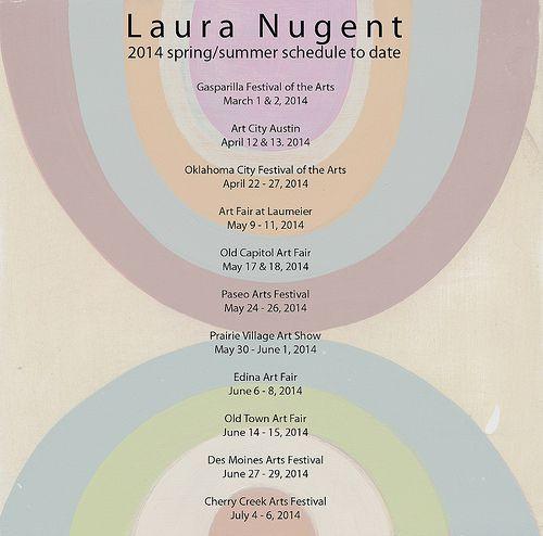 Laura Nugent's art works at the 2014 Edina Art Fair caught my eye.