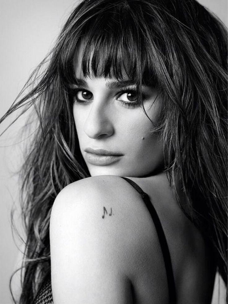 Lea Michele Musical Note Shoulder Tattoo - Best Tattoo Ideas