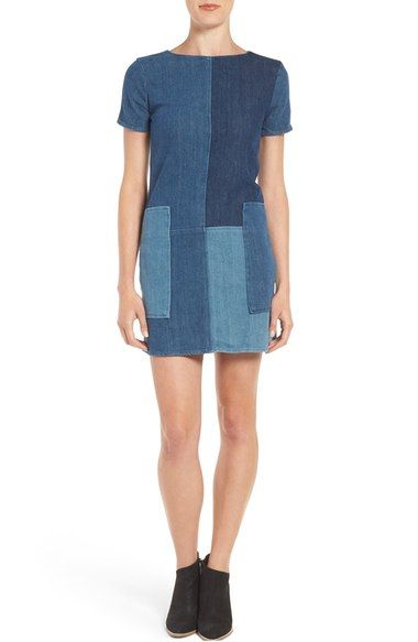 J Brand Luna Denim Shift Dress - too short for me, but how cute is this?