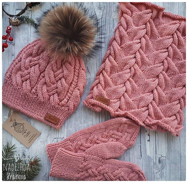 В наличии комплект из полушерсти на р54-59,цена 5000р #вналичии #комплект #купитькомплект #ручнаяработа #вяжутнетолькобабушки #вязаниекрючком #like4like #likeforlike #follow4follow #knitting #moscow