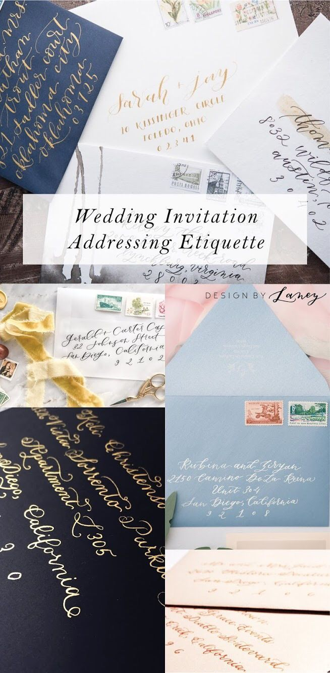 Tips Tricks Wedding Invite Address Etiquette