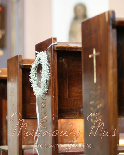 Dekoracja ławek kościoła.