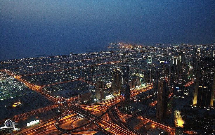 #dubai view at #dusk from #burj_khalifa - #photo by #andreaturno with #nikon - #colors_of_the_desert #colors_of_uae #uae @andreaturno