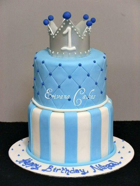 Prince Crown Cake Kids Birthday Cakes Pinterest More