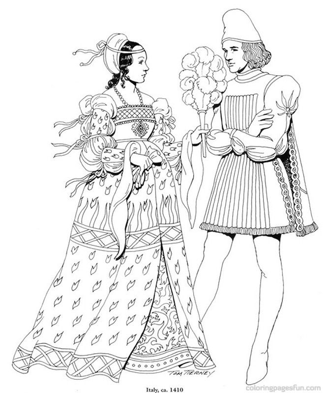 Italian Renaissance Coloring Pages | Coloring Pages