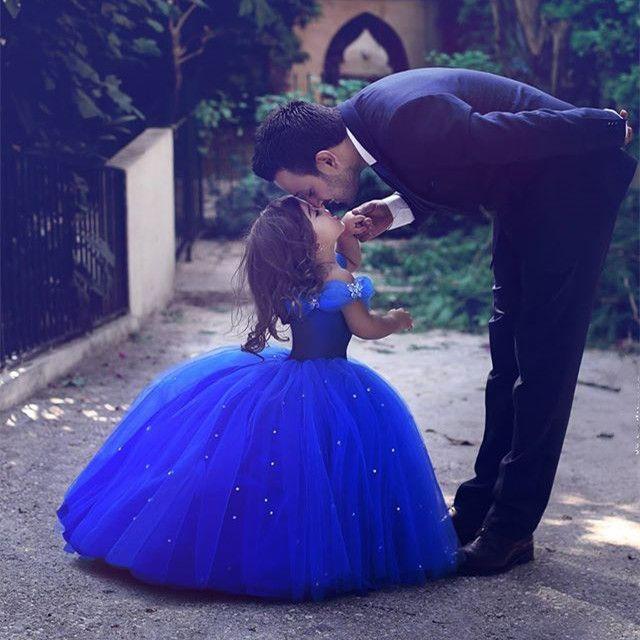little girl Cinderella dresses,royal blue ball gowns,Pageant Dresses For Little Girl