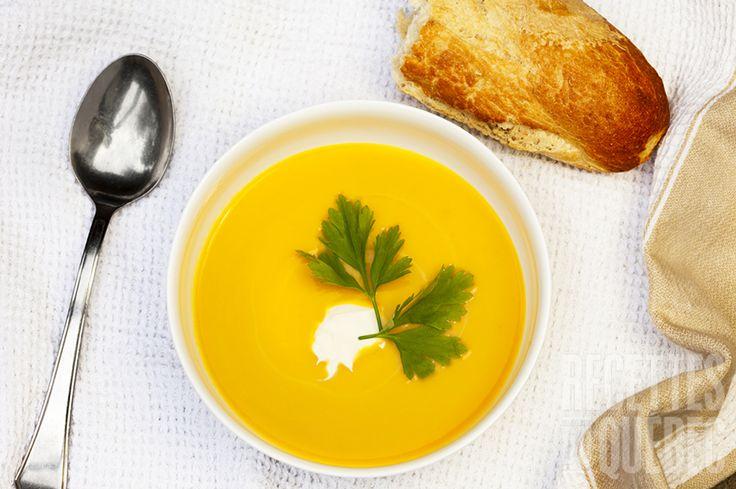 Potage citrouille, carotte et poireau