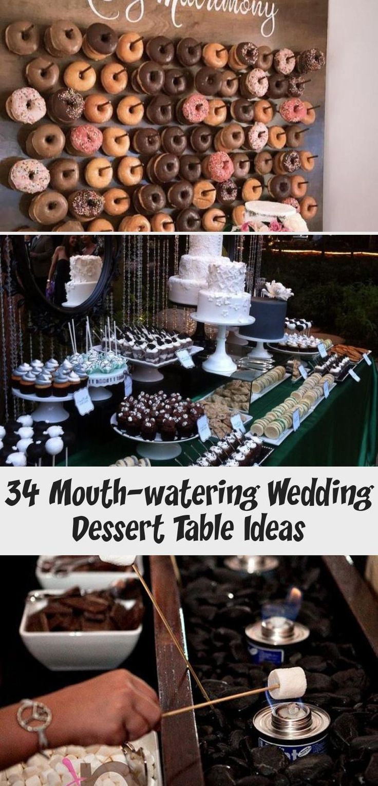 34 Mouthwatering WeddingDessert Table Ideas