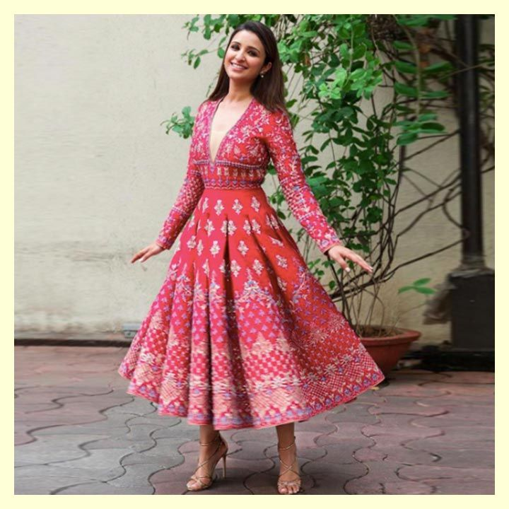 Parineeti Chopra in Anita Dongre, The Great Indian Laughter Challenge, Golmaal Again Promotional Style, MyFashgram