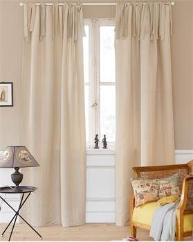 Vorhang Goldstück Baumwolle Natur Streifen