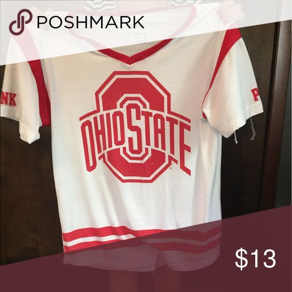 Ohio state jersey shirt Ohio state jersey shirt, a few snags but fixable. PINK Victoria's Secret Tops Tees - Short Sleeve