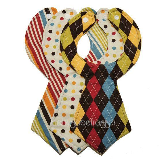 Designer-Baby Krawatte Lätzchen 3er Pack von babyglobefrogger