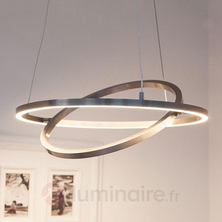 Suspension LED Lovisa dotée de deux anneaux LED
