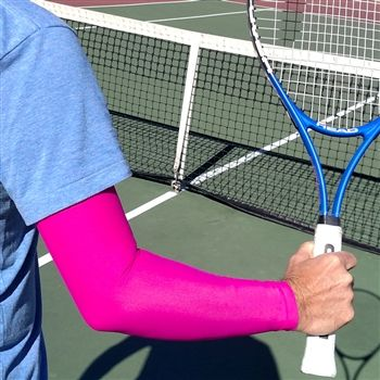 Tennis Arm Compression Sleeve | iM Sports. Our premium tennis arm compression sleeve is perfect for keeping your service arm warm. Check out our new quantity discounts! ~ The more you buy, the MORE you SAVE ~ Up to 20% Off!  #pinkfullarmsleeve #notanlines #tennis #grandslam #keepsyoulookingandfeelingcool #novisiblelogo #sunprotection http://www.imsportsteam.com/tennis-arm-sun-sleeves-s/1849.htm