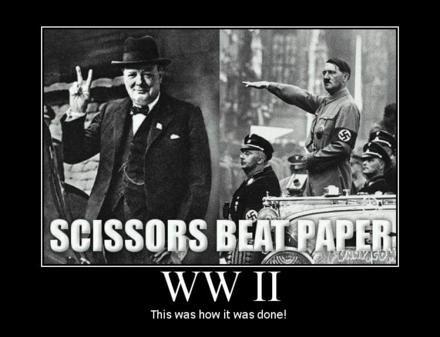Scissors Beat Paper. Always.