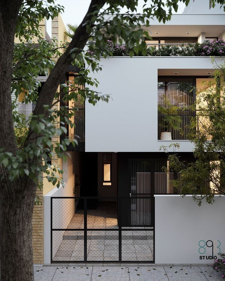 Minimal House Design, Modern Small House Design, Modern Minimalist House, House Front Design, Small Modern House Exterior, Gate House, Facade House, House Exteriors, House 2