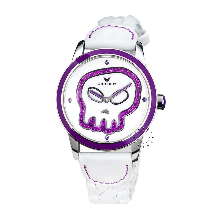 VICEROY Skull White Leather Strap  104€  http://www.oroloi.gr/product_info.php?products_id=26824