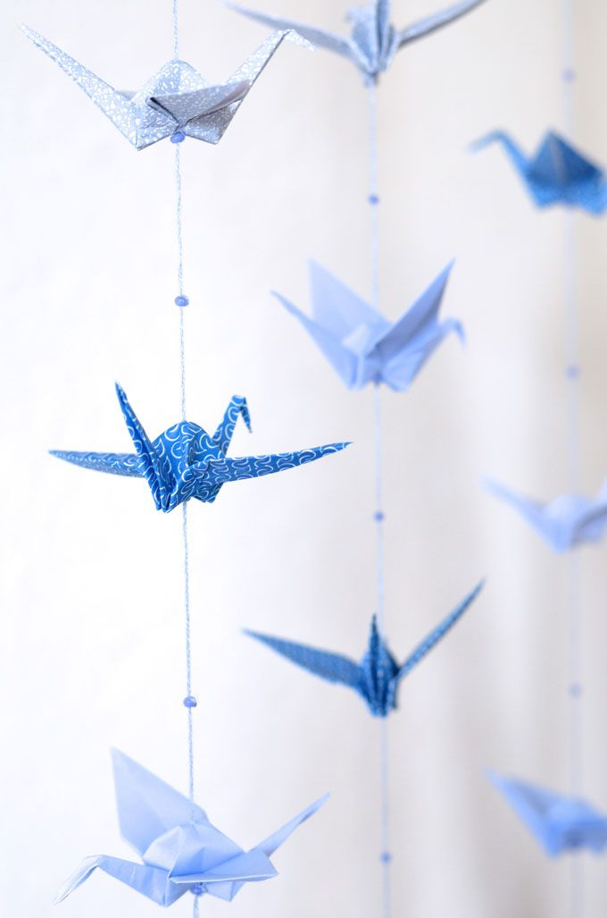 Maryandpatch, origami cranes hanging, DIY