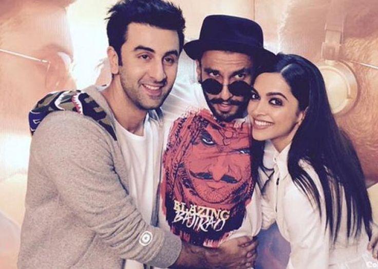 Ranbir Kapoor with Ranveer Singh and Deepika Padukone